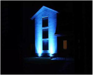 Освещение дома общей заливкой