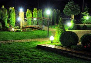 Освещение садово-парковых зон