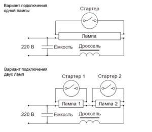 Схема подключения стартера