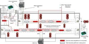Схема управления аварийным освещением