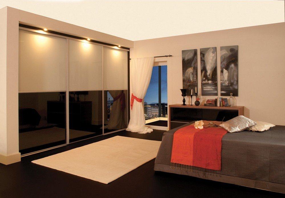 Шкаф купе в спальню - фото интерьеров и выбор модели шкафа.
