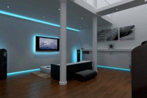 Светодиодная подсветка в интерьере помещения квартиры