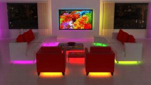 Подсветка мебели светодиодными лентами