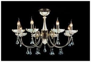 Люстра со свечеподобными филаментными лампами