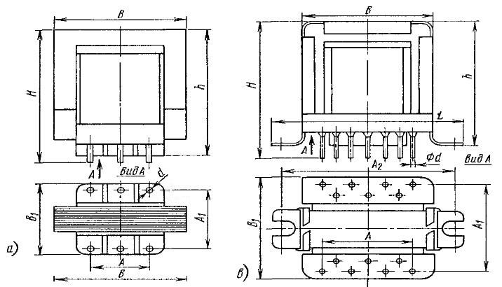 Вид трансформаторов ТОТ-типа