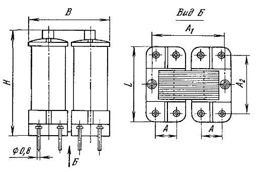 Вид трансформаторов ТВТ-типа