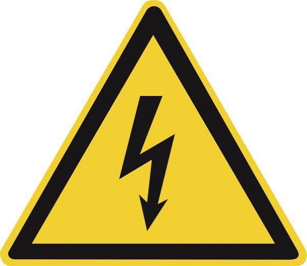 Предупреждение об опасности контакта с электричеством