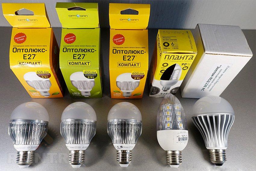 Образцы светодиодной продукции