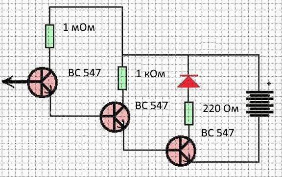 Схема простейшего сенсора