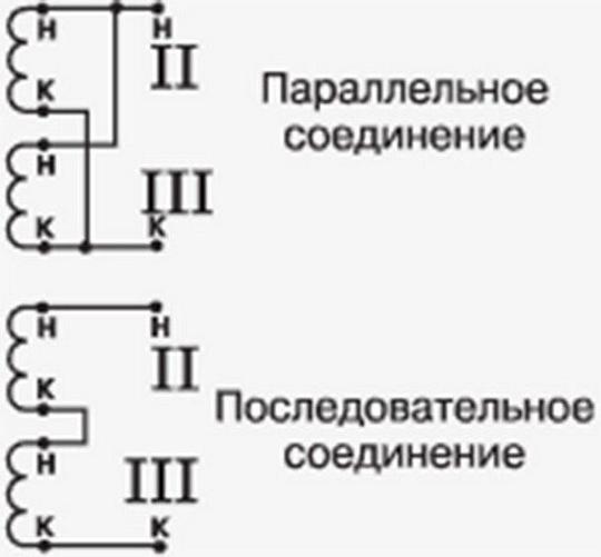 Схемы включения «вторички»