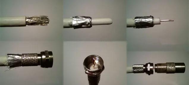 Формирование стыковочного узла с разъёмом типа F