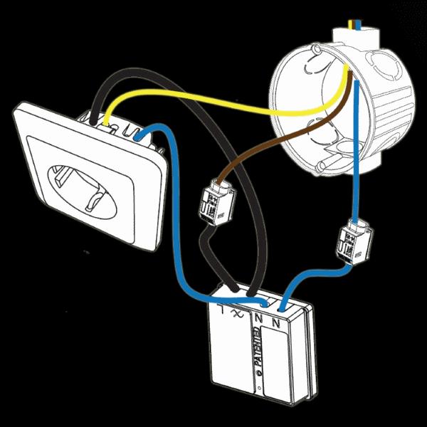 Установка выключателя в розетке