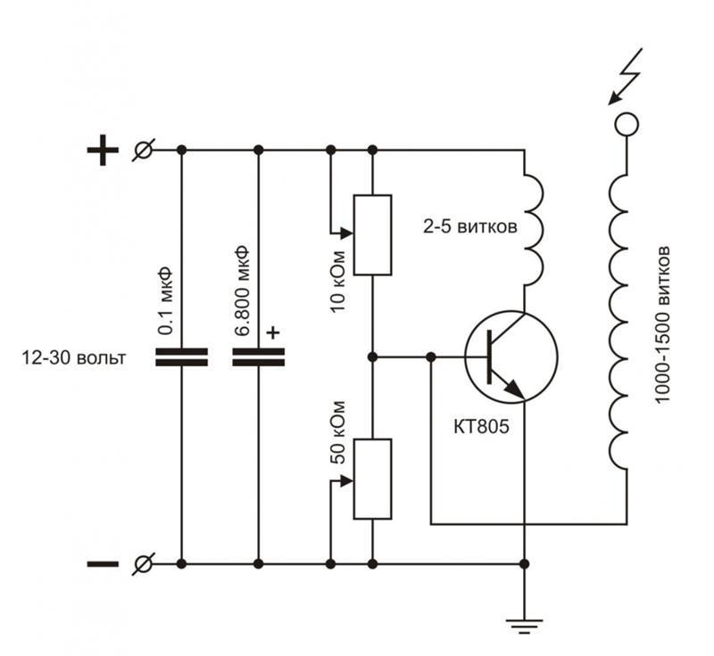 Блокинг-генератор на биполярном транзисторе