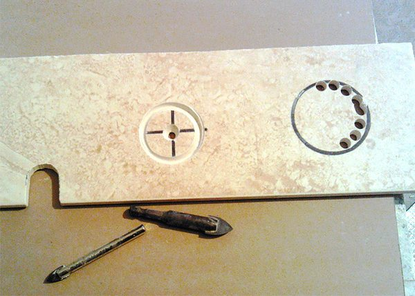Как сделать отверстие в плитке