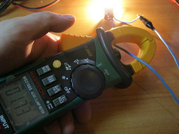 Измерение силы тока токоизмерительными клещами