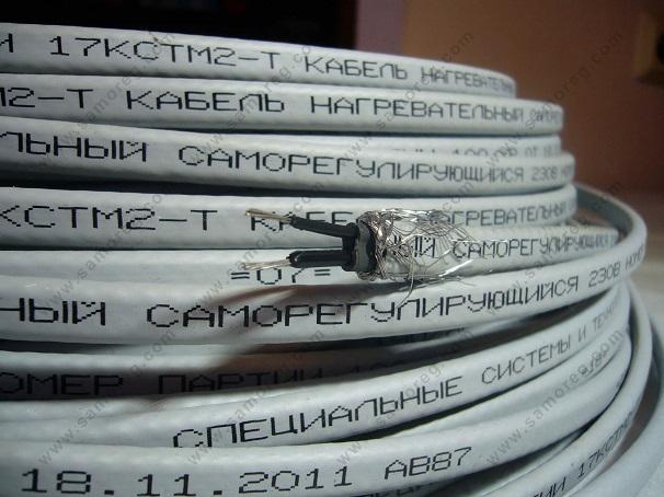 Маркировка нагревательного кабеля