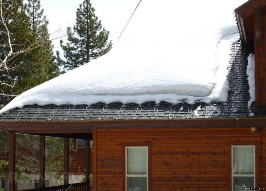 Использование системы подогрева на крыше