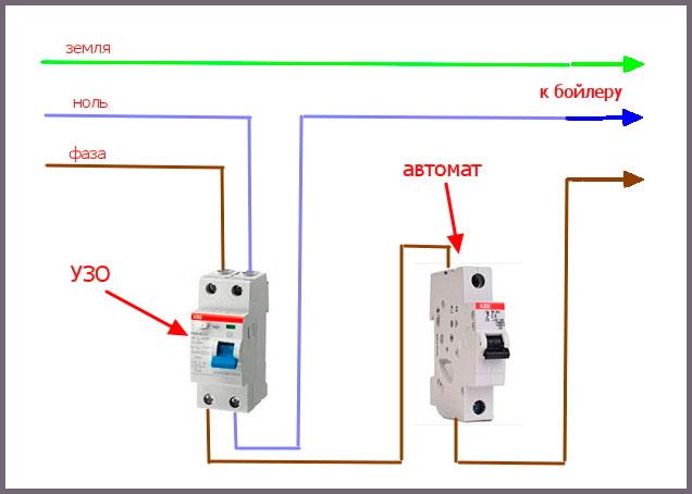 Схема подключения реле контроля потенциалов