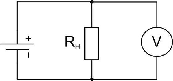 Схема подключения вольтметра