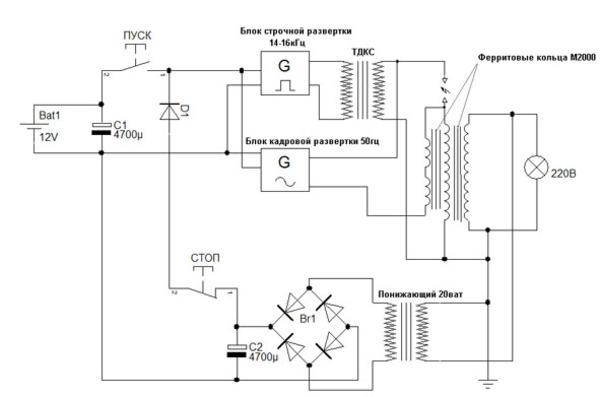 Схема генератора СЕ