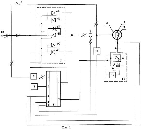 Схема стартового генератора