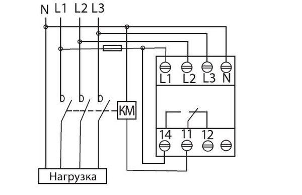 Схема реле контроля напряжения
