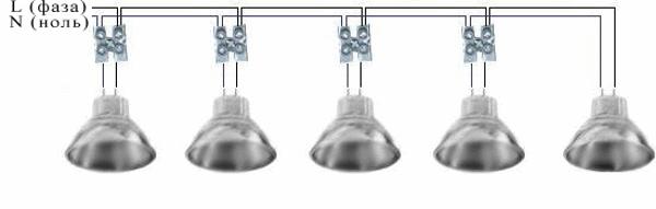 Схема для подвесных светильников