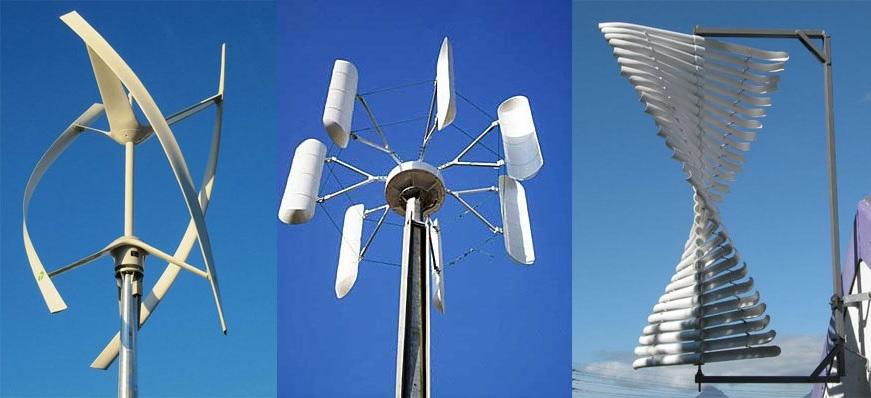 Ветрогенераторы с вертикальной осью вращения ротора