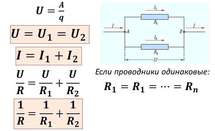 Схема и расчеты для параллельного соединения