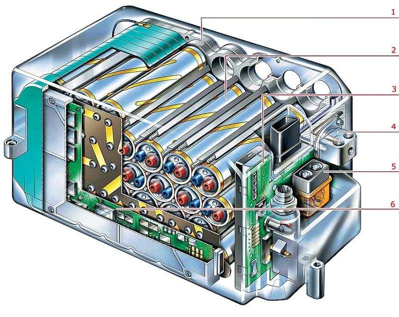 Один из первых источников питания для автомобилей, созданных на принципах заряда ионов лития