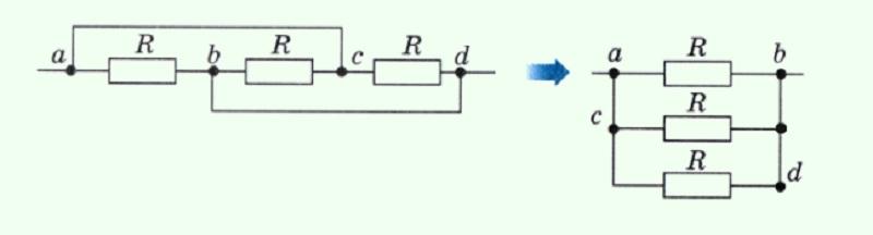 Для упрощения трансформируют исходный вариант в удобный эквивалент, пользуясь узловыми точками для проверки