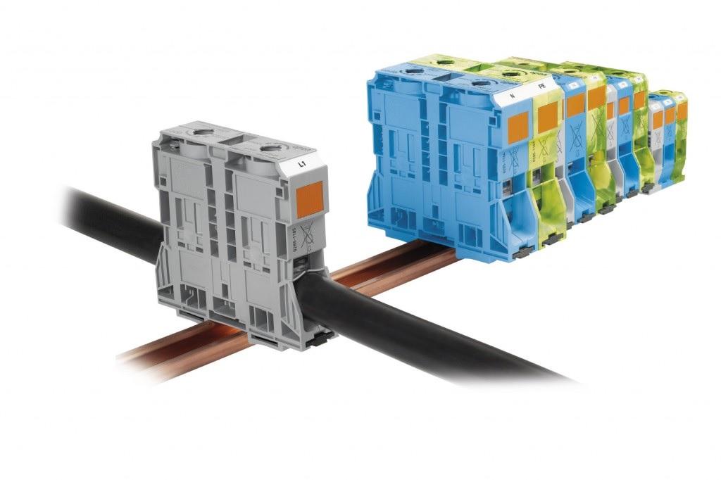 Клеммные колодки для силового кабеля
