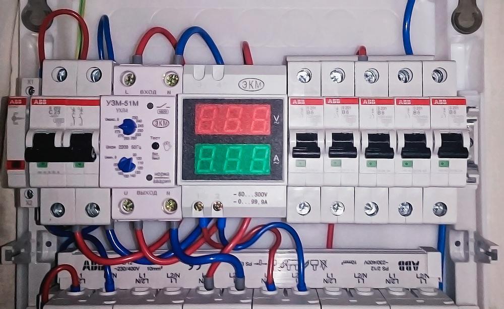Вольтамперметр в электрощитке