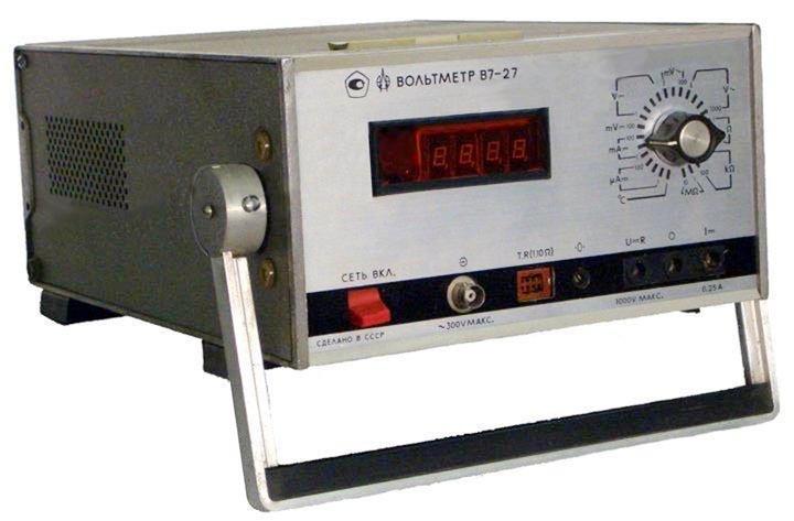 Универсальный вольтметр В7-27