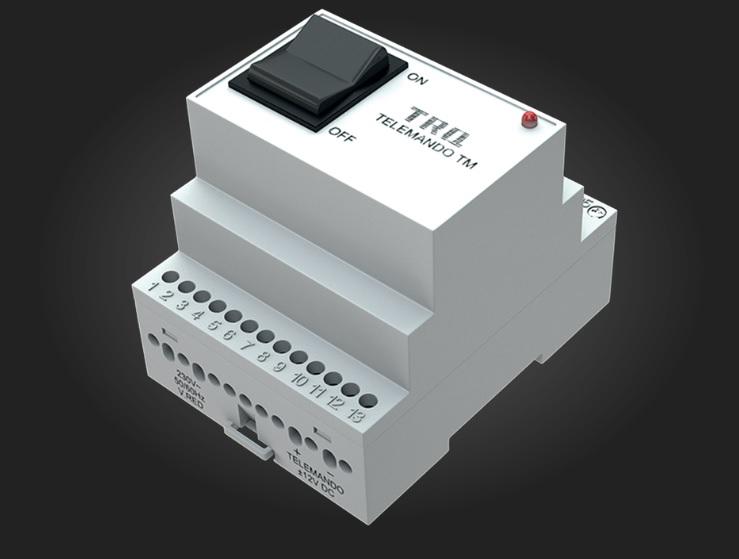 Электронный коммутационный блок для дистанционного контроля нескольких аккумуляторных светильников