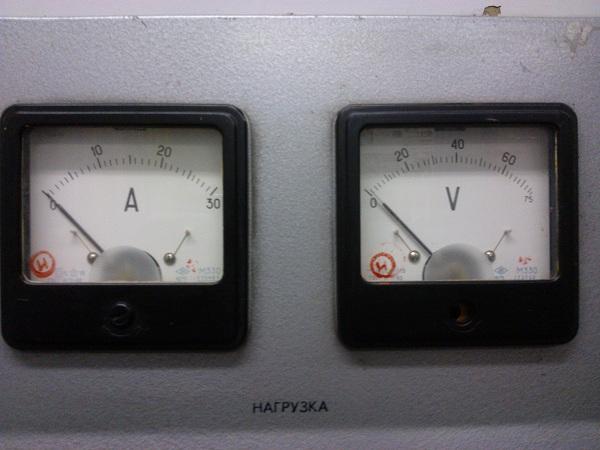 Амперметр и вольтметр щитового исполнения