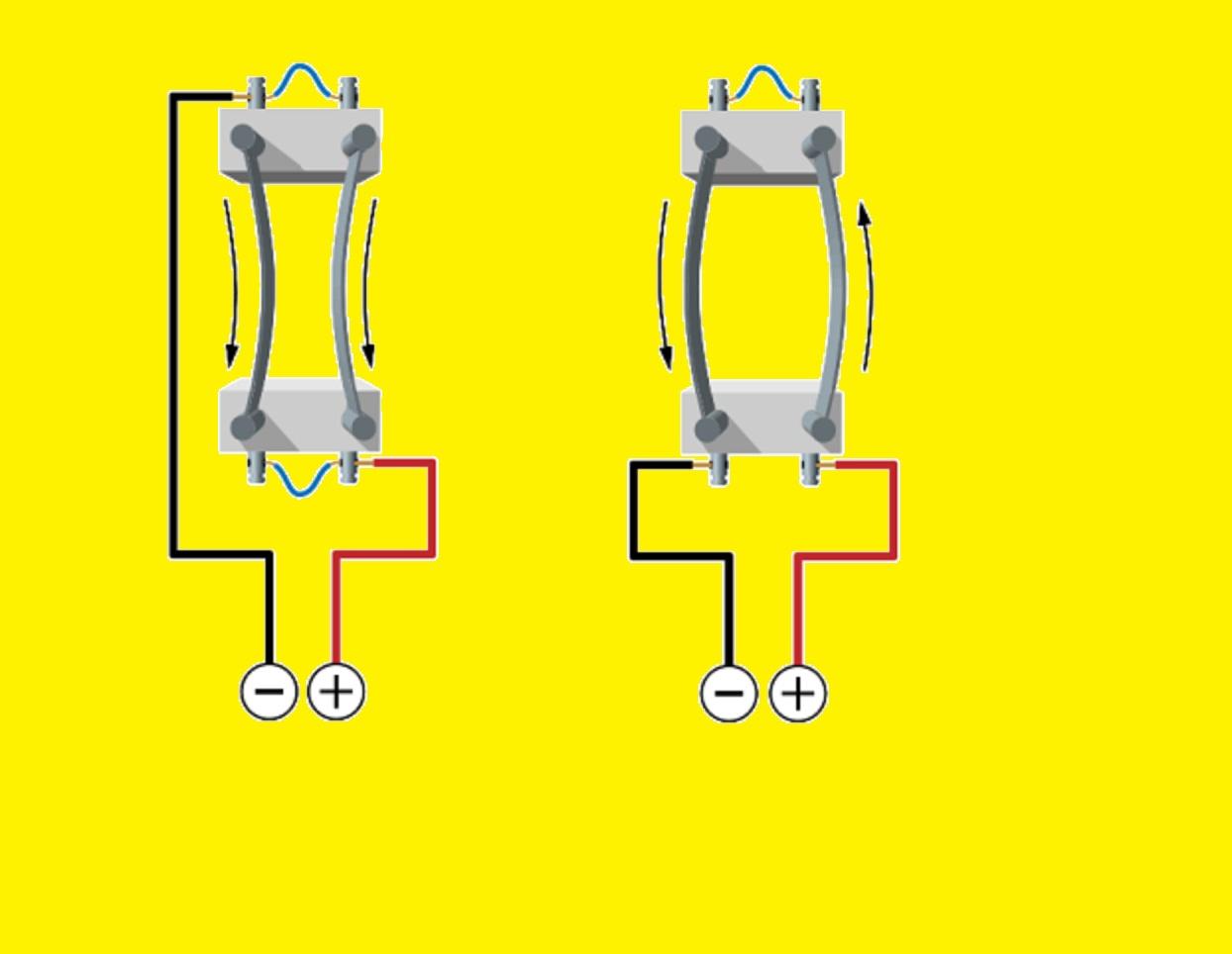 Взаимодействие проводников в вакууме при подключении электричества