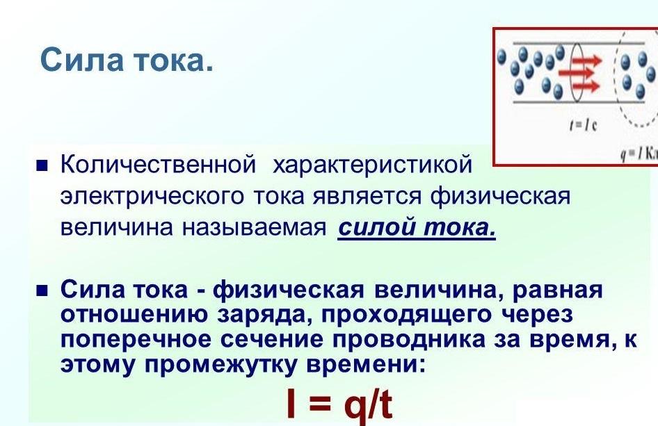 Классическое определение силы тока