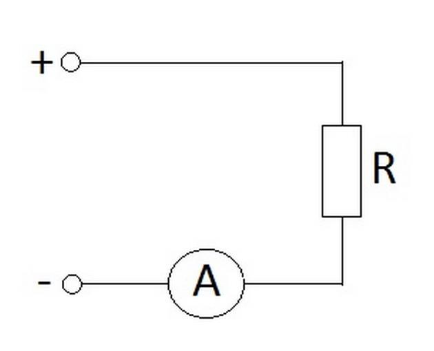 Схема включения амперметра в цепь