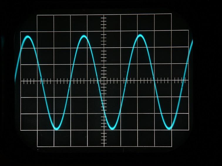 Сигнал на экране осциллографа
