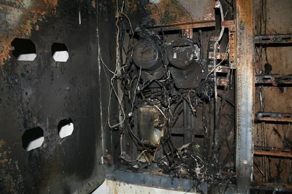 Следствие замыкания в электрощитовой