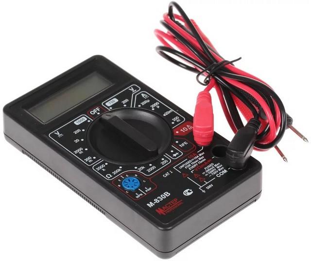 Мультиметр позволяет провести детекцию фазного провода