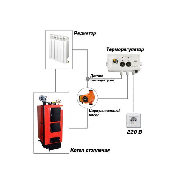 Схема подключения к циркуляционному насосу