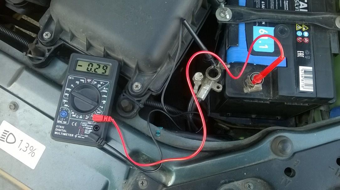 Определение тока утечки на автомобильной акб