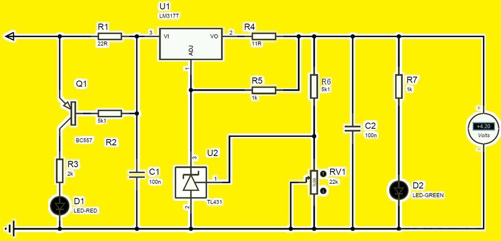 Схема самодельной зарядки для Li-ion 18650