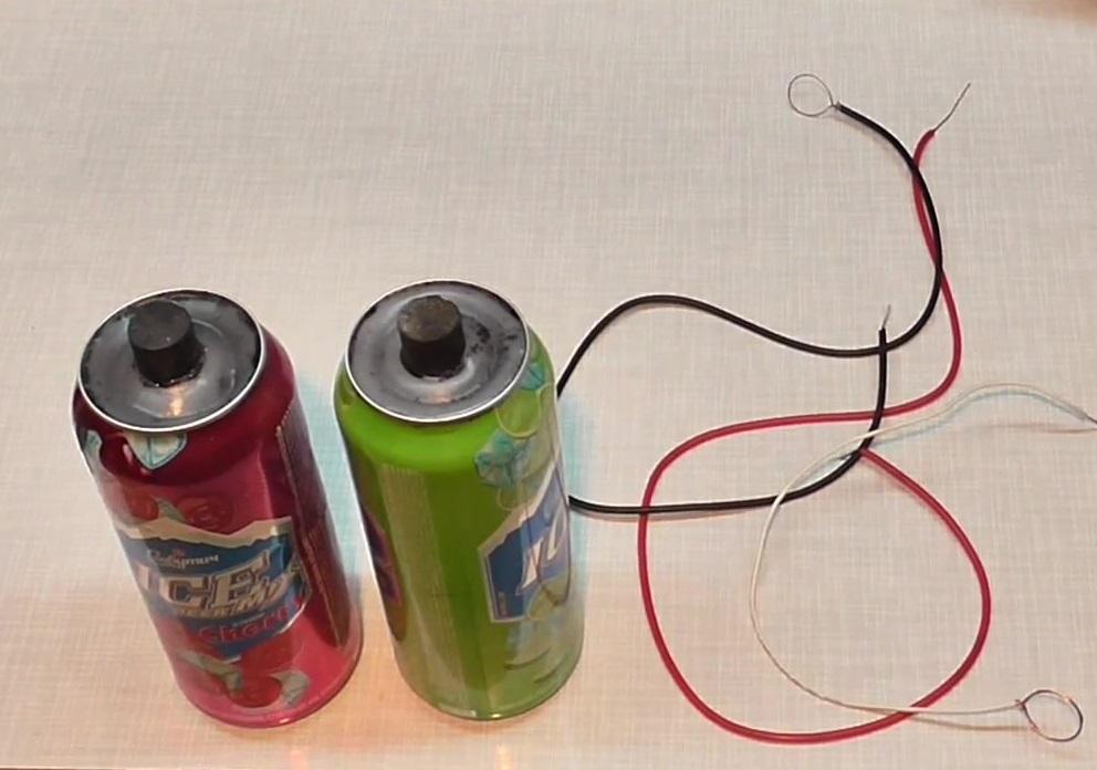 Батарейка в пивной банке