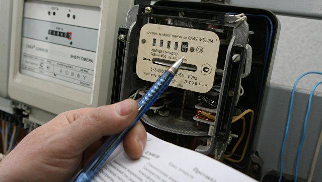 Снятие показаний с электросчётчика