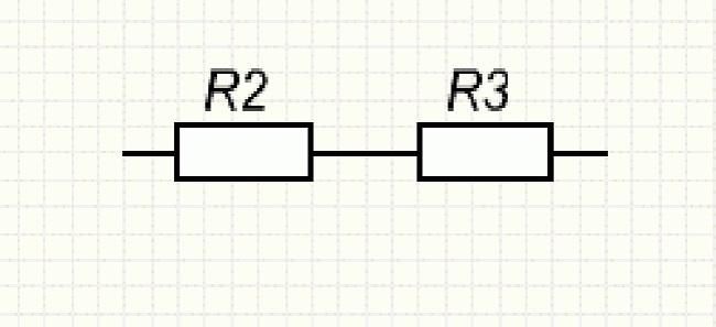 Последовательно соединённые резисторы R2 и R3
