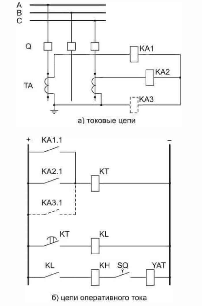 Схема с парой реле