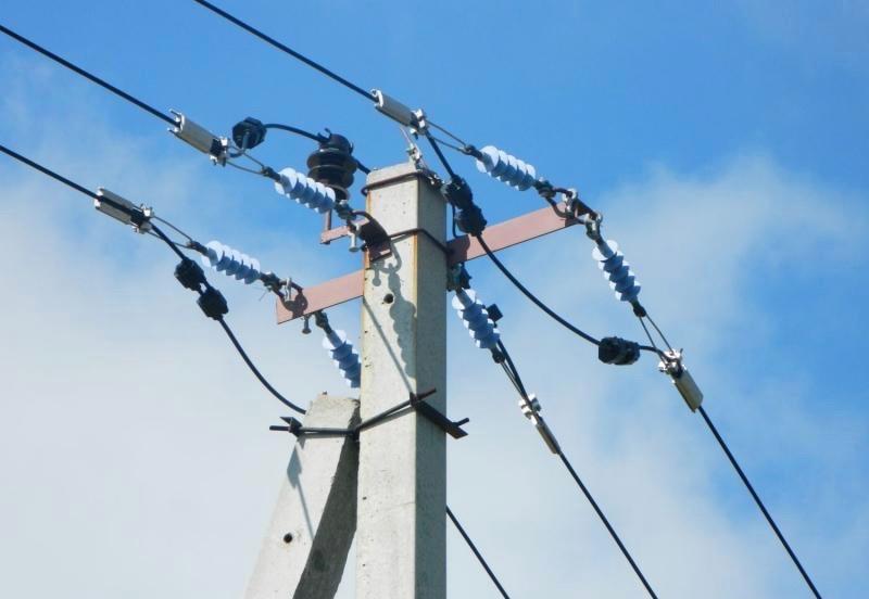 Трёхфазная линия электропередач 10 кВ